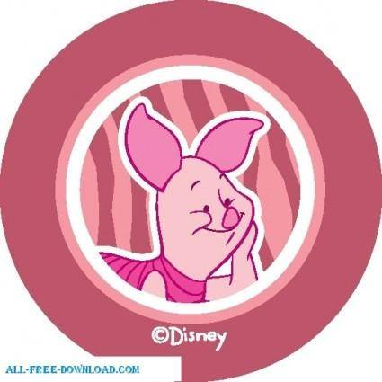 free vector Winnie the Pooh Piglet 014
