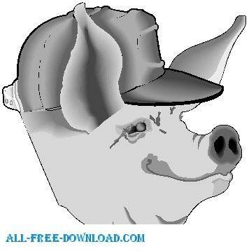 free vector Pig 01