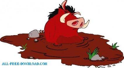 free vector The Lion King pumbaa012