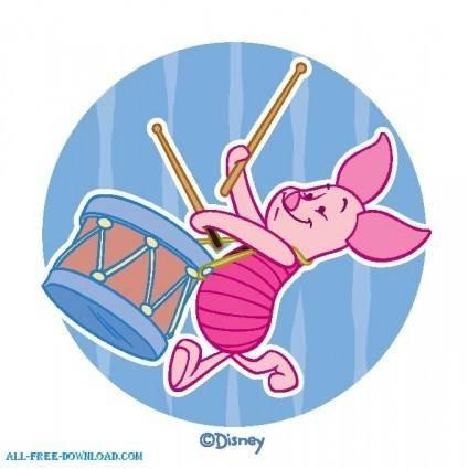 free vector Winnie the Pooh Piglet 011