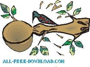 free vector Woodpecker in Tree