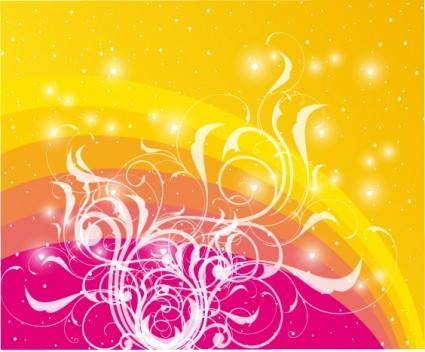 free vector Dotted Colored Vector With Swirls D