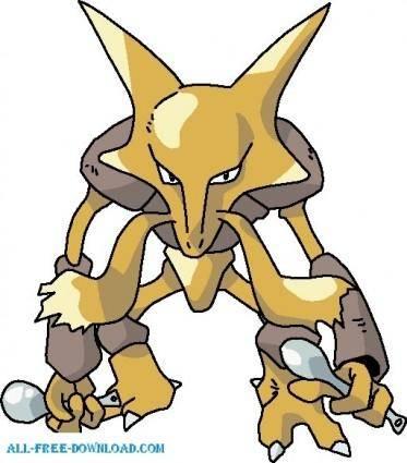 free vector Pokemon 065