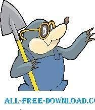 Mole with Shovel