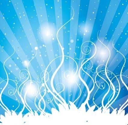 free vector Swirls Blue Shinning Vector design