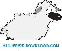 free vector Sheep 10