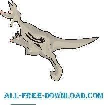 free vector Kangaroo Jumping 2