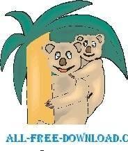 free vector Koala and Baby