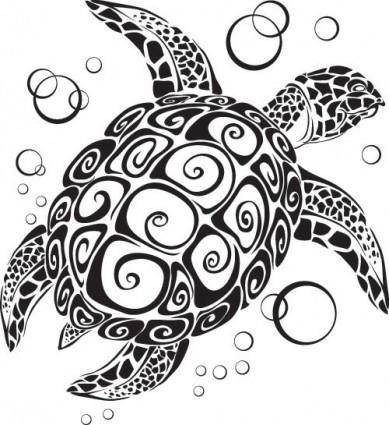 Turtle totem vector 2