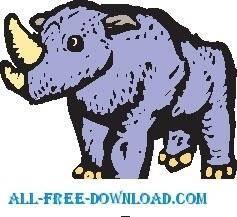 free vector Rhino 09
