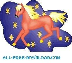 free vector Horse 24