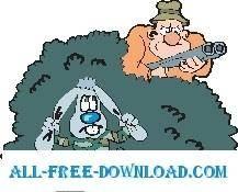 free vector Rabbit Hiding 2