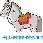 free vector Horse with Saddle