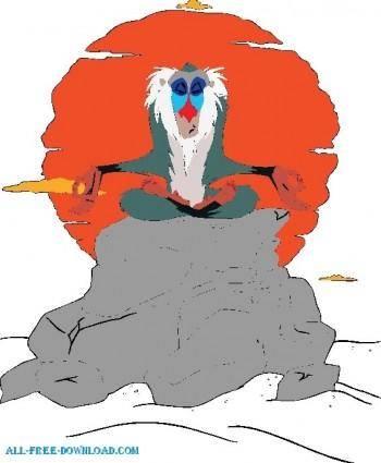 free vector The Lion King Rafiki006