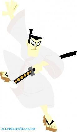 free vector Samurai Jack 003