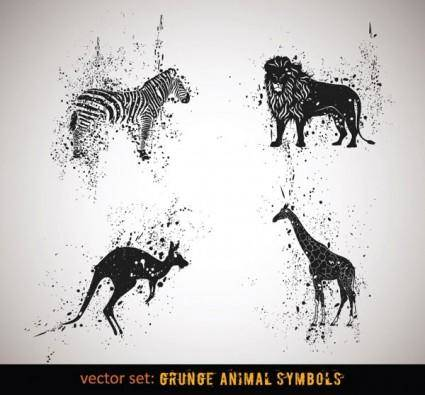 free vector Ink animals vector 1