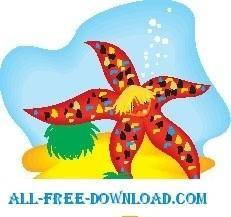 free vector Starfish 3
