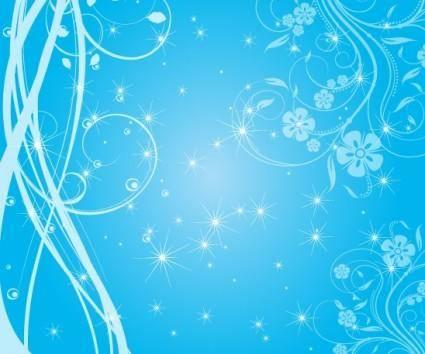 free vector Swirly Blue Stars Free Vector