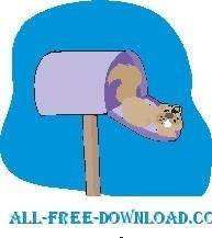 free vector Squirrel in Mailbox