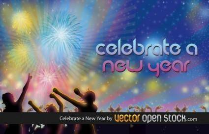 free vector Celebrate a New Year