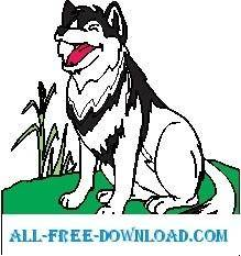 free vector Wolf Smiling