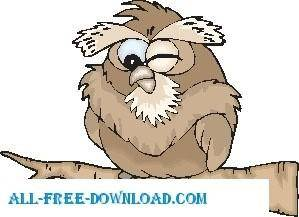 free vector Owl Winking