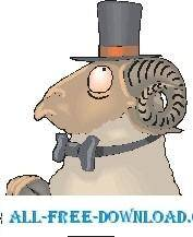free vector Ram with Top Hat