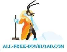 free vector Insect with Snow Shovel