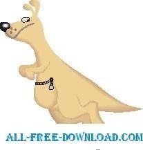 free vector Kangaroo Jumping 1