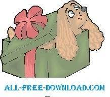free vector Puppy Gift