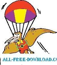 free vector Pteradactyl with Parachute
