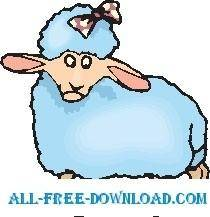 free vector Lamb with Bow