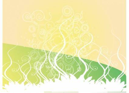 free vector Swirly Golden Green Vector