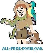 free vector Zoo Keeper