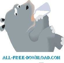 free vector Hippo Baby