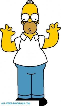 free vector Homer Simpson 01 The Simpsons