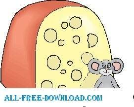 free vector Mouse and Cheese 10