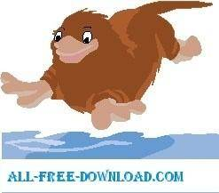 free vector Platypus Diving