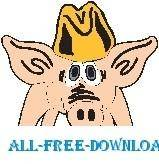 free vector Pig Wearing Hat 2