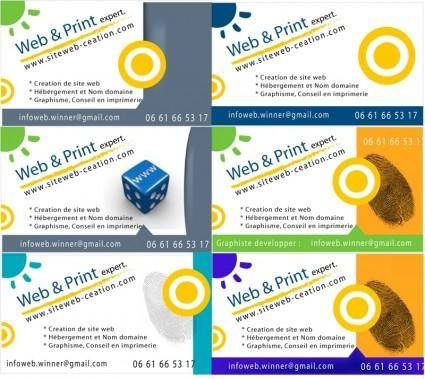 Business card layout vectors