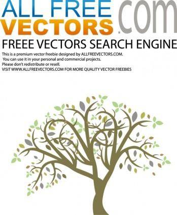free vector Vector colorful tree