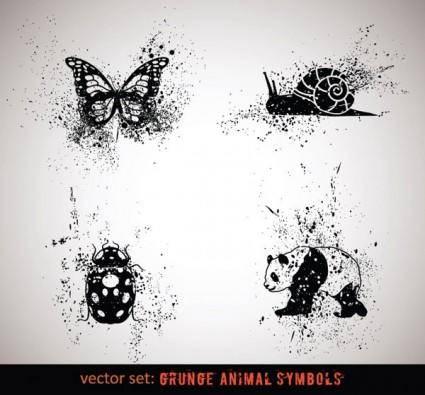 free vector Ink animals vector 3