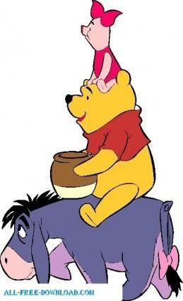 free vector Winnie the Pooh Eeyo 002