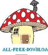 free vector Mushroom House 1
