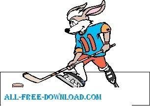 Rabbit Playing Hocky