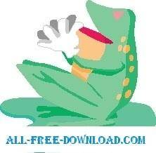 free vector Frog Clapping