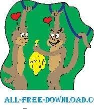 free vector Monkeys in Love