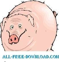 free vector Pig 27