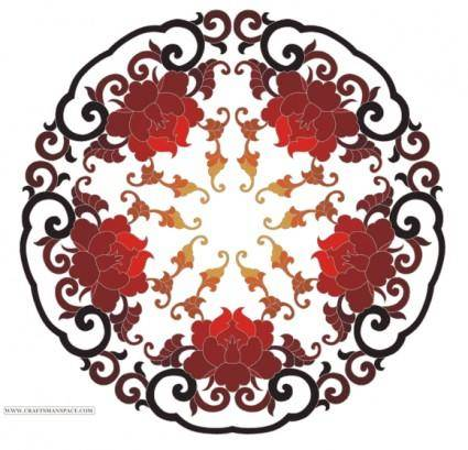 free vector Chinese ornament from www.craftsmanspace.com