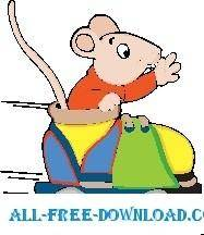 free vector Mouse in Roller Skate